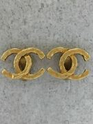 Authentic Earrings Gld Store Gold Vintage Logo Beauty Nice O490445939