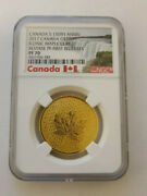 2017 Canada 200 Gold Maple Leaf 150th Anniv Ngc Reverse Pf70 First Release Rare
