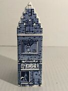 Red Light Amsterdam Delft Blue House 9 Holland Hand Painted Vintage