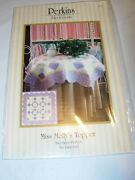 Crafts Uncut Sewing Pattern Fabric Quilt Miss Mollys Topper Table 36x36 49x49