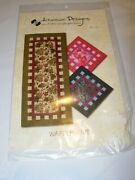 Crafts Uncut Sewing Pattern Fabric Quilt Table Runner Waffle Time18x42 Topper 18