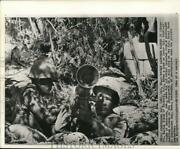1962 Press Photo Officers Henry Burroughs And Walter Stack, Us Military Base, Cuba