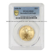 2008-w 25 1/2 Ounce Burnished Gold Eagle Pcgs Sp69 22-karat West Point Coin