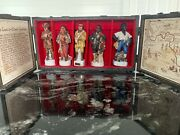 Vintage Lewis And Clark Bourbon Whiskey Decanters Wood Boxed Set By Gary Shildt