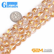 Natural White Rock Crystal Inline Gold Foil Mala Prayer Round Beads For Jewelry
