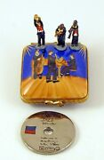 New French Limoges Trinket Box Jazz Box W Musician Figurines And Platinum Record