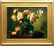 William Martin Yellow Rose Giclee On Canvas Hand Signed Make An Offer