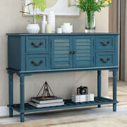 2 Cabinet Kitchen 4 Drawers Buffet Entryway Console Table W/shelf Wood Sideboard