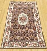 3x5 Feet Aubusson Style Chain Stich Rughand Knotted Needlepoint Area Rug9462