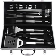 Bbq Grilling Utensil Tool Set With Thermometer, 22pcs Stainless Grill Tools Set