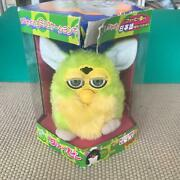 Tomy Furby Green Yellow Doll Figure Plush Toy Japanese Version With Box Used F/s