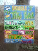 Tropical Tiki Bar Hut Pool Rules Beach Hand Made Personalized Sign Plaque