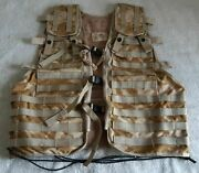 New British Army Desert Tactical Load Carry Vest Plus Pouches,airsoft,reenactmen