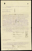 William M. Bill Tilghman - Document Signed 06/19/1890 Co-signed By Neal Brown