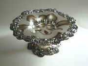 Antique Sterling Silver Shreve And Co San Francisco Ornate Compote Candy Bowl