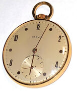 Mens 18k Yellow Gold Marvin Pocket Watch 46 Mm Mechanical