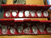 Set Of 12+2 Waterford Crystal 12 Days Of Christmas Ornaments Andlsquo82 - Andlsquo95