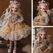 24 Bjd Doll 1/3 Handmade Clothes Shoes Wigs Eyes Makeup Princess Girl Gift Toy