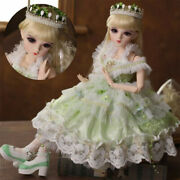 24 1/3 Bjd Princess Girl Doll With Clothes Removable Eyes Face Makeup Handmade