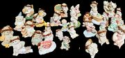30 Dreamsicles Rare Cast Art Willitts Design Cherub Angels Lot And03991-and03904 Kristin