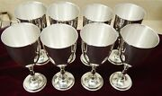 8 Rare Juventino Lopez Reyes Mexican Sterling Silver Water Goblets - T2