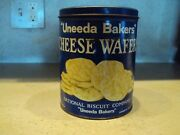 Vintage 1930s-40s Uneeda Bakers Nabisco Cheese Wafers Tin National Biscuit Co.