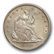 1860 O 50c Seated Liberty Half Dollar Ngc Au 58 About Uncirculated Better Date