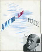 Matter Of Life And Death Original Uk Film Program Signed By Michael 118614
