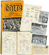 John F Steadman Baltimore Colts Story First Edition Signed By 40 Team 119692