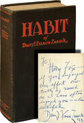 Darryl Francis Zanuck Habit And Other Short Stories First Signed 138162