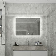 Led Lighted Bathroom Vanity Wall Mounted Mirror Anti Fog Dimmable Touch Button