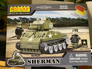 Lego Best -lock Construction Sherman Tank Officially Licensed By Us Army New