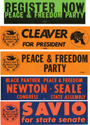 Black Panthers Collection Of 5 Original Black Panther Peace And Freedom 143730