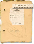 Tod Browning Mystic Original Screenplay For The 1925 Silent Film 149842