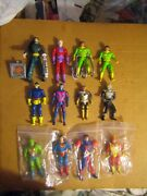 12 Rare Htf Collectable Vintage Marvel And Dc Etc..action Figures Sold As Is Lot
