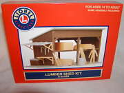 Lionel 6-81629 Lumber Shed Kit O 027 Mib New 2015 Some Assembly Required
