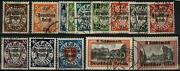 Germany 1939 Wwii Occupied Poland Danzig Op Mi716-729 Used Complete Set 101580