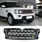 Black Front Upper Bumper Mesh Grill Grille For Land Rover Discovery 4 2014-2016