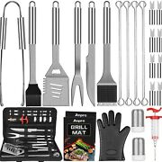 Anpro Grill Accessories Bbq Set Tools 31 Pcs Stainless Steel Grilling Kit With