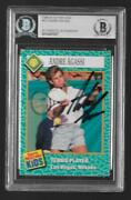Bgs 6/89 Si For Kids Andre Agassi Rookie Card Autograph, Usa Tennis Legend 47