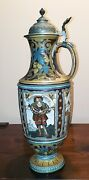 Mettlach Stein - Figures From Die Meistersinger - Unique Shape - Extremely Rare