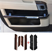 For Range Rover L405 13-17 Red Wood Interior Door Panel Cover Trim Replace 6pcs