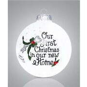 Our First Christmas In Our New Home Key Glass Christmas Ornament Made In The Usa