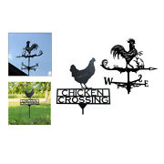 2pcs Stainless Weathervane With Animal Figurine Garden Professional Easy Use