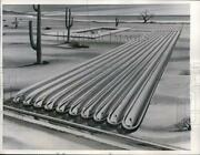 1957 Press Photo Wilmington Del Plant Troughs For Turning Salt Water To Fresh