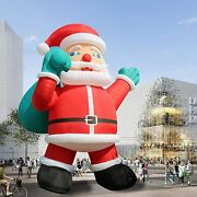 Giant 26ft Inflatable Santa Claus With Blower For Christmas With Blower