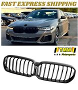 Fit For Bmw G30 Lci 5 Series Front Kidney Grille Grill Glossy Gloss Black 20-21