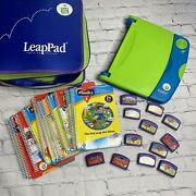 Leap Pad Learning System 15 Books And Cartridges Carry Case