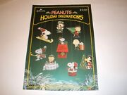 Hallmark Peanuts Gang Christmas Die-cut Ornaments Snoopy Press Punch Out 3d Htf
