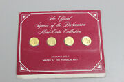 Franklin Mint Official Signers Of The Declaration 24k Gold Mini Coin Collection